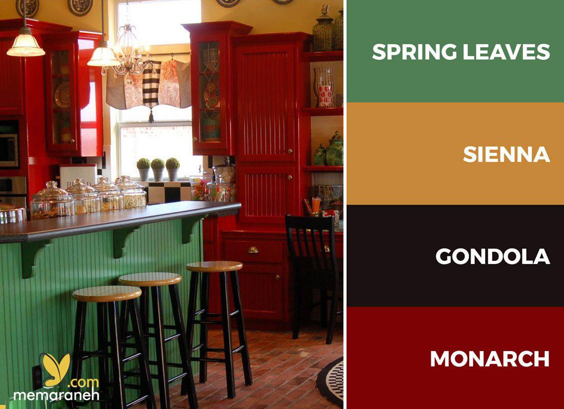 انتخاب رنگ در طراحی آشپزخانه