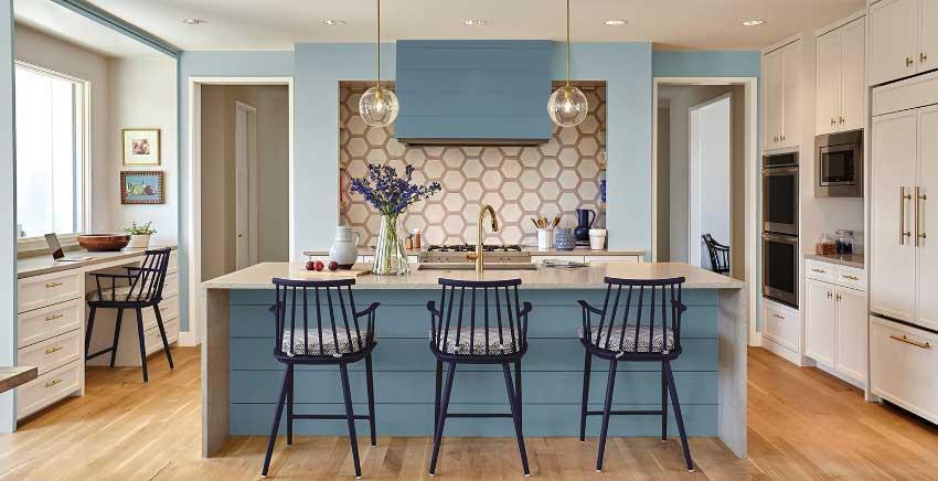 30طرح جذاب رنگی و فریبنده برای آشپزخانه