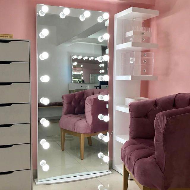 آینه چراغدار طرح Freda