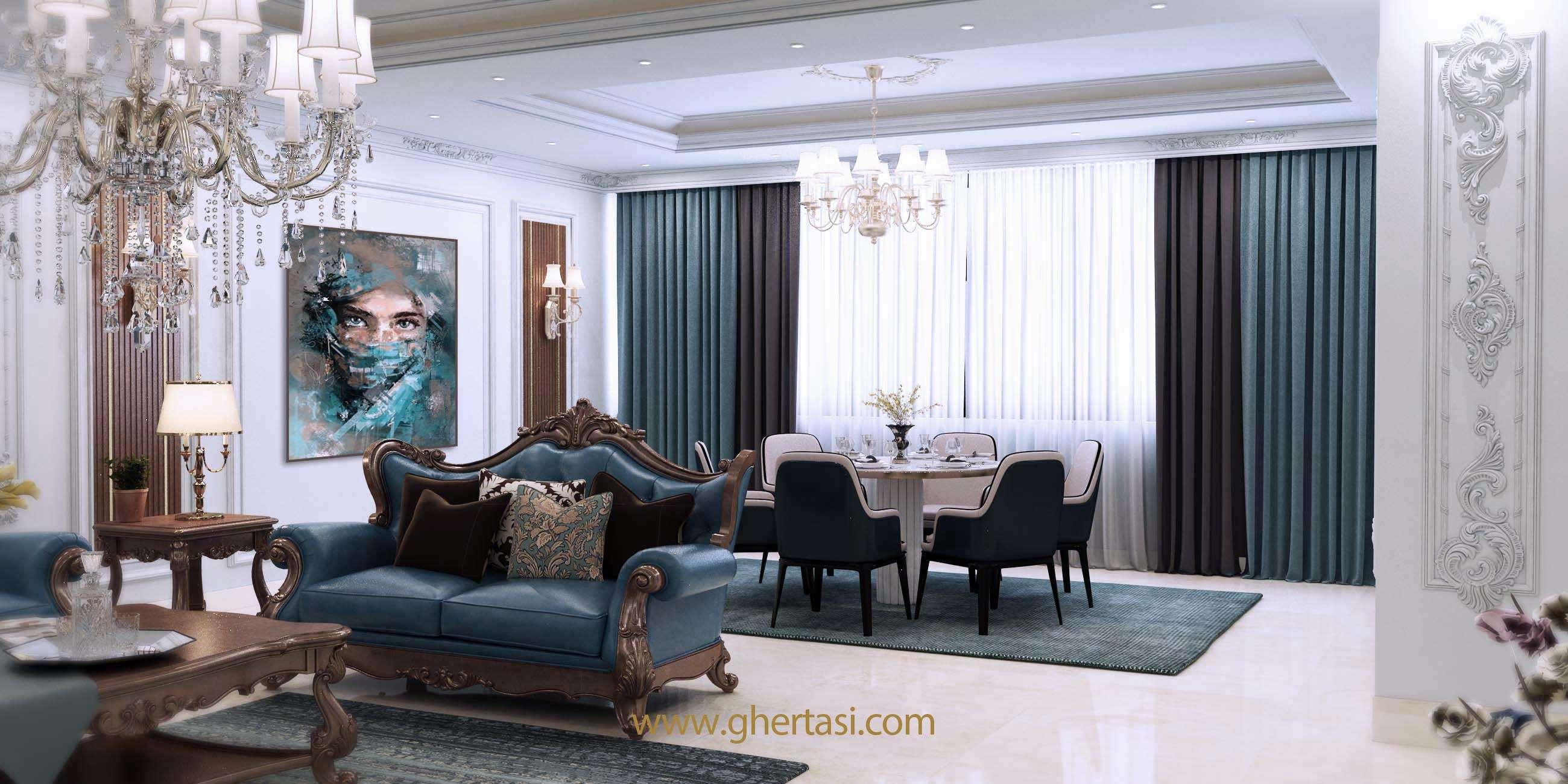 طراحی داخلی واحدهای مسکونی مجتمع تجاری مسکونی مهتاب