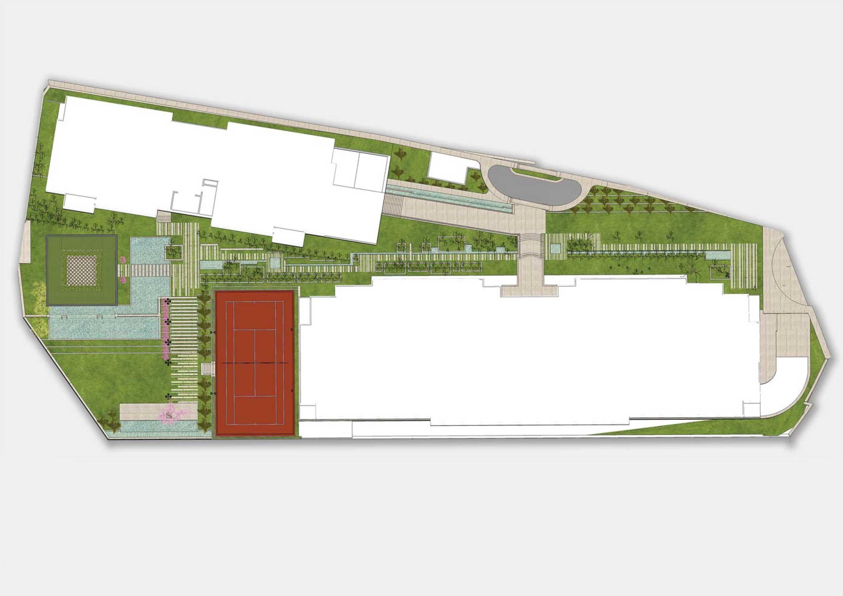 طراحی محوطه و فضای سبز پروژه مسکونی پارک