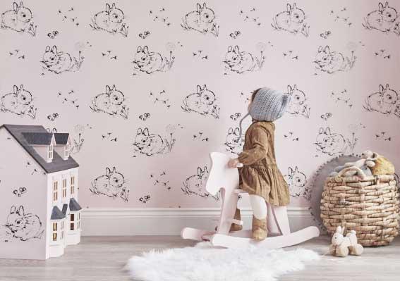 انتخاب کاغذ دیواری اتاق کودک