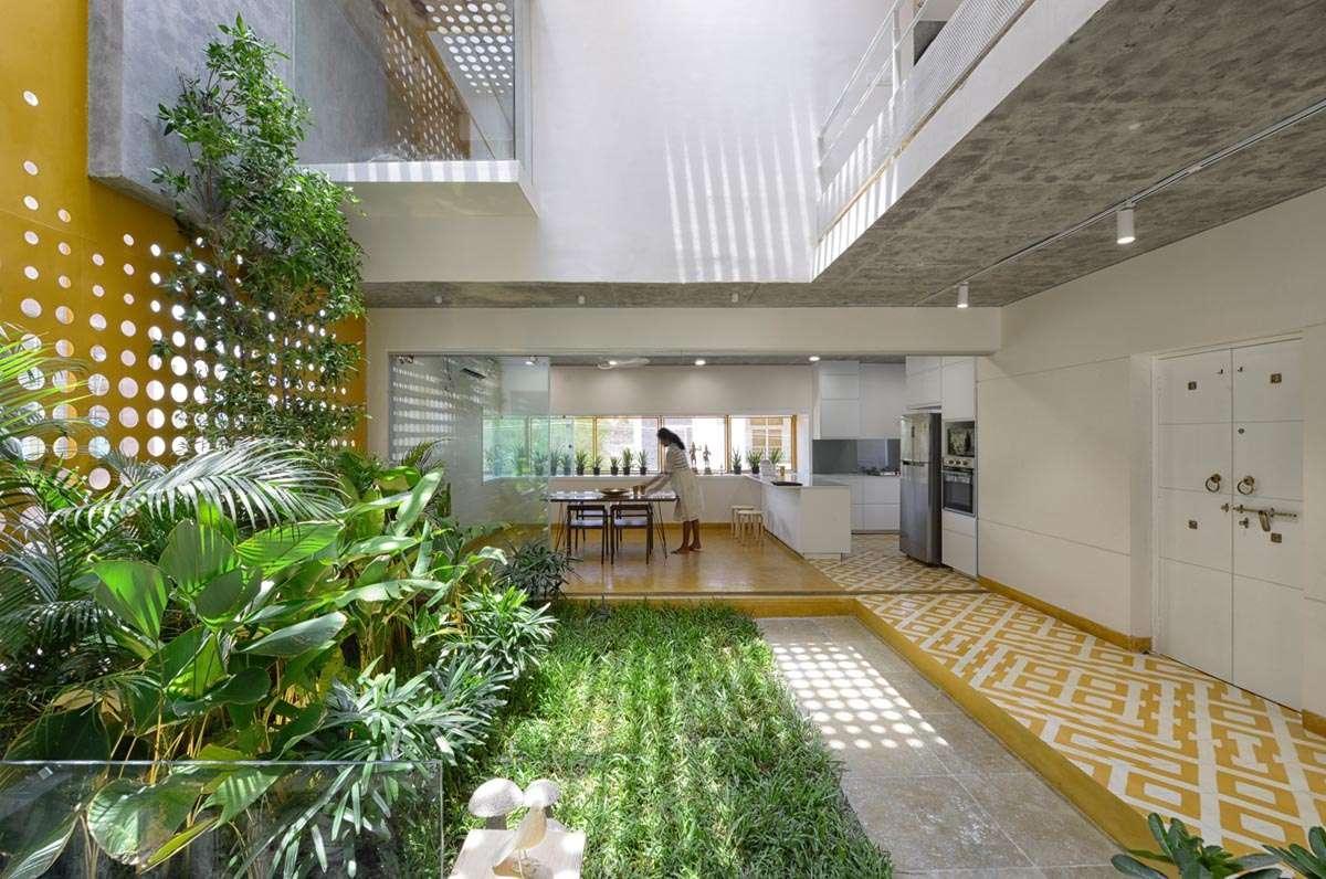 خانه باغی زیبا با طراحی منحصر بفرد