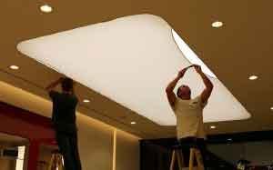 آموزش نحوه نصب سقف کشسان